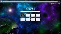 Космическая тема для Google Chrome